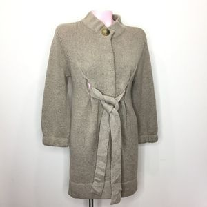 Vince gray cardigan sweater coat belted wool blend